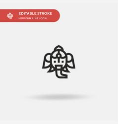 Ganesha simple icon symbol vector