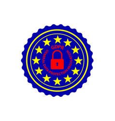 gdpr - sticker stamp vector image