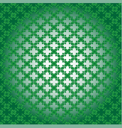 geometric seamless pattern design in green colors vector image