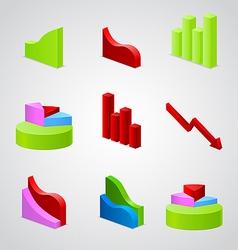 Graphic business diagram vector