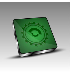 Green square with gear vector