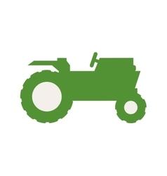 Green tractor icon Farm design graphic vector