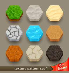 Ground texture patterns for game-set 1 vector