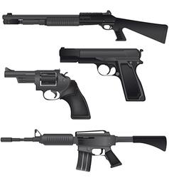 Gun Weapon Crime War Isolate vector