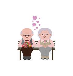 happy old senior couple in love vector image