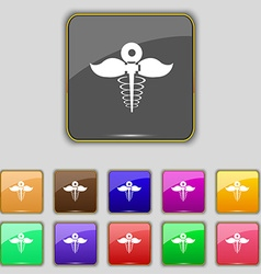Health care icon sign Set with eleven colored vector
