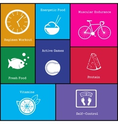 healthy life style icon vector image