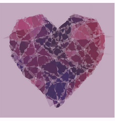 heart triangular low poly mosaic abstract pattern vector image