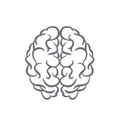 human brain outline vector image