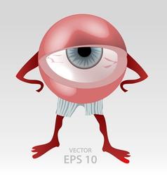 Human tired eye mascot vector image