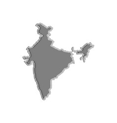 india map paper cut country isolated on a white vector image