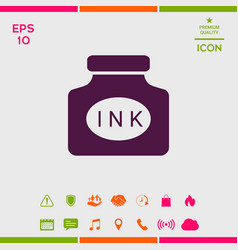 Ink bottle icon vector