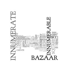 Innumerate word cloud concept vector