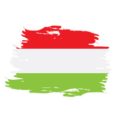Isolated hungarian flag vector