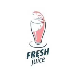 juice splash sign vector image