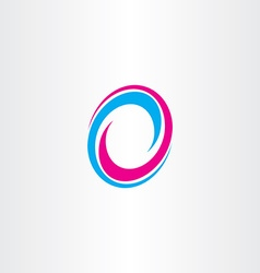 Logotype letter o sign 0 icon vector