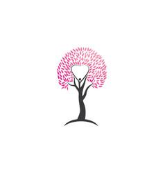 love tree logo template vector image