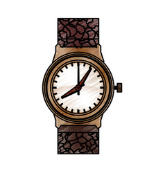 Luxury wristwatch clock vector