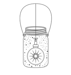Mason jar of christmas season design vector