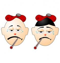 men with flu vector image