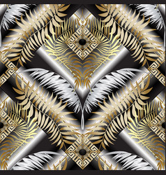 Modern greek 3d seamless pattern abstract vector