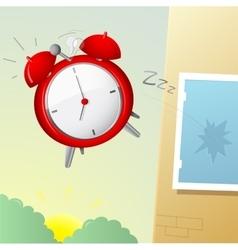 Morning alarm clock vector