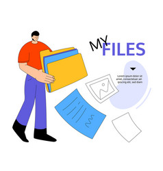 My files - modern colorful flat design style web vector