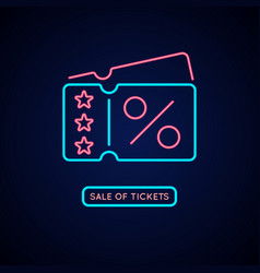 neon poster sale of tickets modern vector image