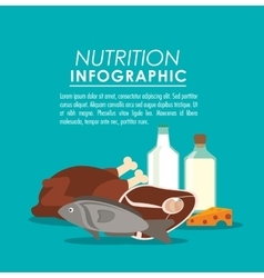 nutrition infographic food icon vector image
