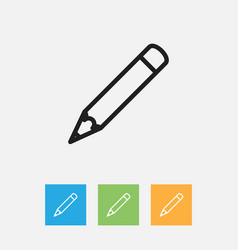 of teach symbol on pen outline vector image