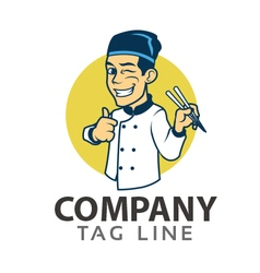 Oriental Chef Logo vector