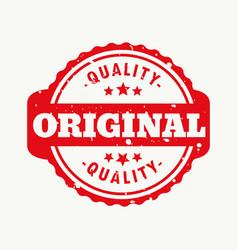 Original quality stamp vector