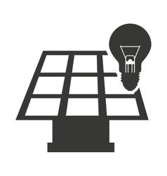 Panel solar with bulb isolated icon design vector
