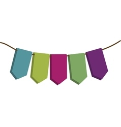 Party pennant icon image vector