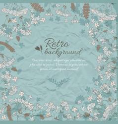 Retro flowery decorative background vector