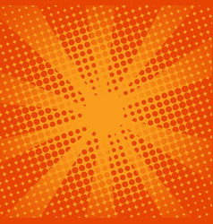 retro rays comic orange background vector image