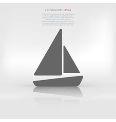 Sailboat ship icon vector image