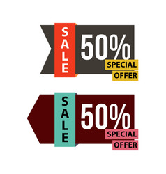 Sale special offer template design vector