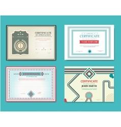 set gift certificates great vector image