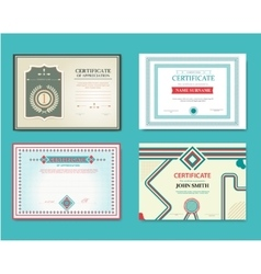 Set of gift certificates Great for vector
