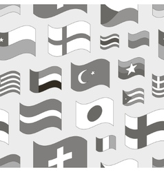 Set of world flags pattern vector image
