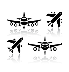 Set transport icons - plane vector