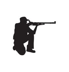 Shooter kneeling position vector
