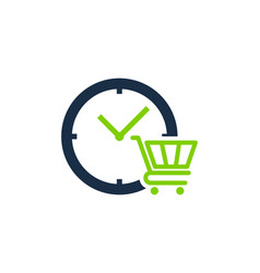 shop time logo icon design vector image