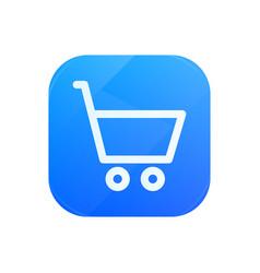 shopping glossy flat icon buy symbol vector image