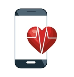 Smartphone and cardio heart vector