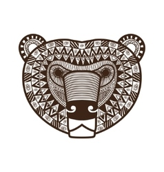 Stylized Bear face vector