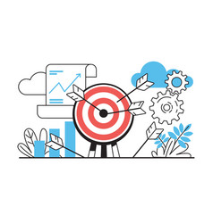 Target with arrows business challenge with goals vector