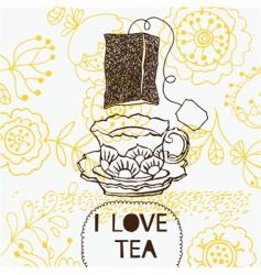 Teatime background vector