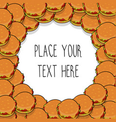 Template with many hamburgers vector